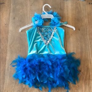 Blue Feathered costume